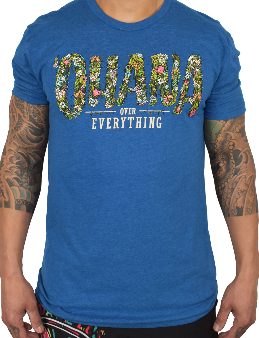 Men's 'Ohana Over Everything' Ultra Tee - Blue
