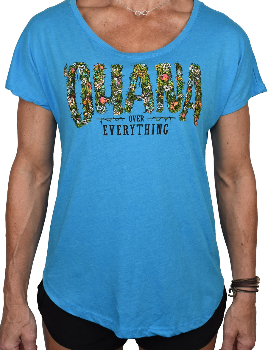 Women's 'Ohana Over Everything' Dolman Tee