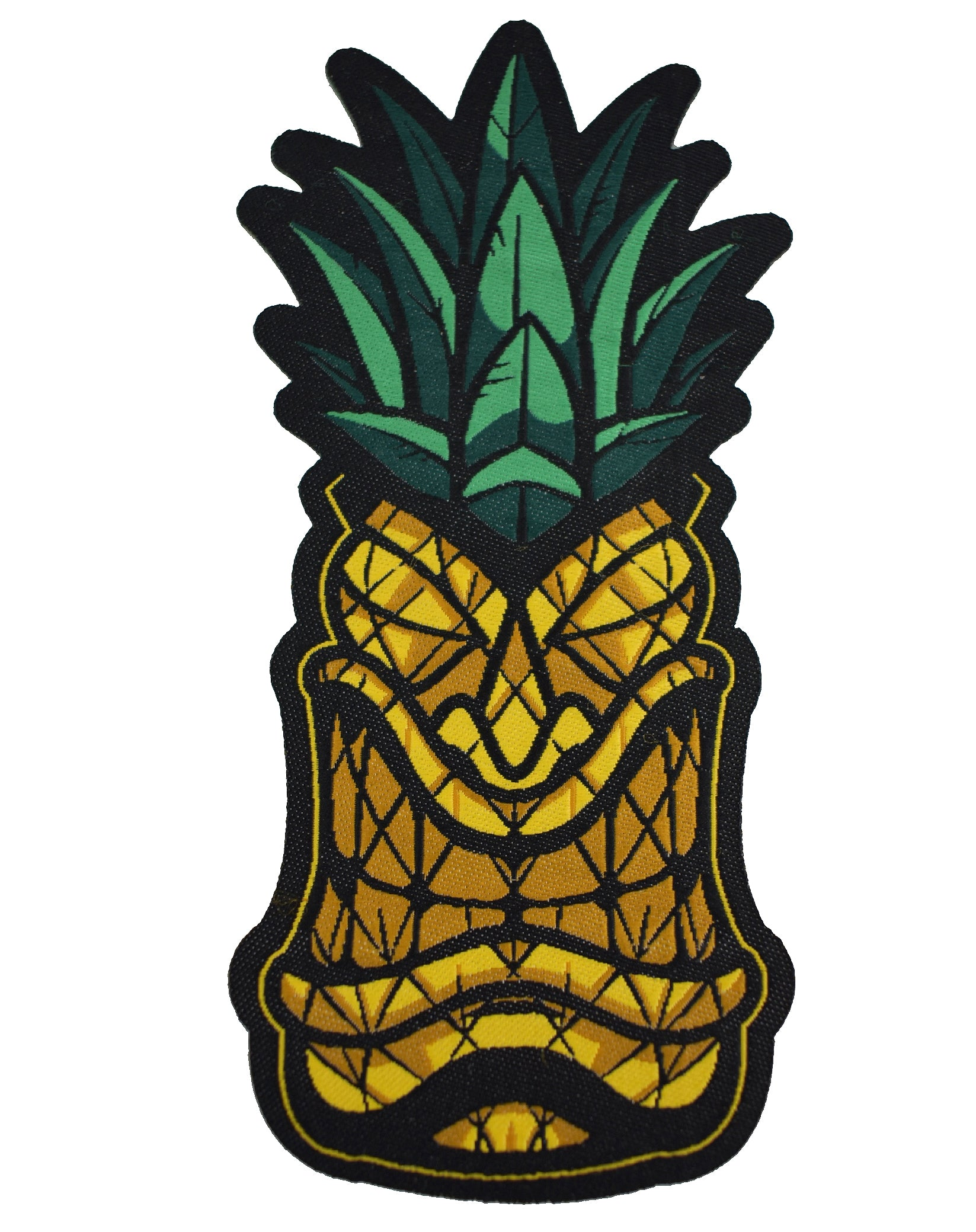 'Pineapple Tiki' Woven Patch - 4.5""