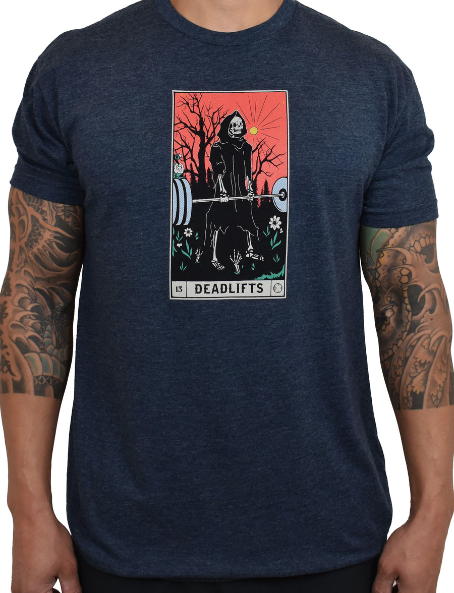 Men's 'DEADLIFTS Tarot Card' Tee - Midnight