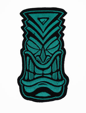 Embroidered 'Tiki' Patch - Teal