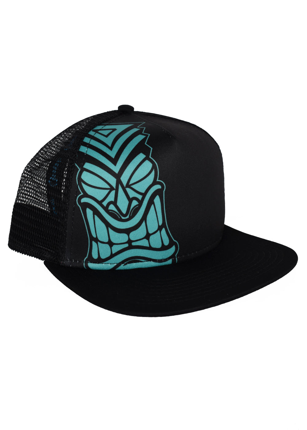 'Teal Tiki' Foam Front Trucker Hat