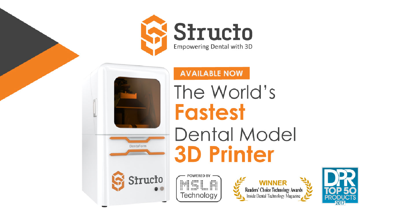 Structo Revolutionizes Digital Dentistry With The Launch of The DentaForm: The World's Fastest Dental Model 3D Printer