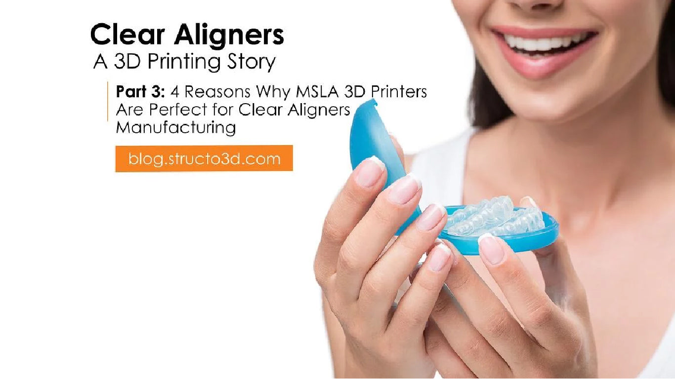Part 3: 4 Reasons Why MSLA 3D Printers Are Perfect For Clear Aligners Manufacturing.