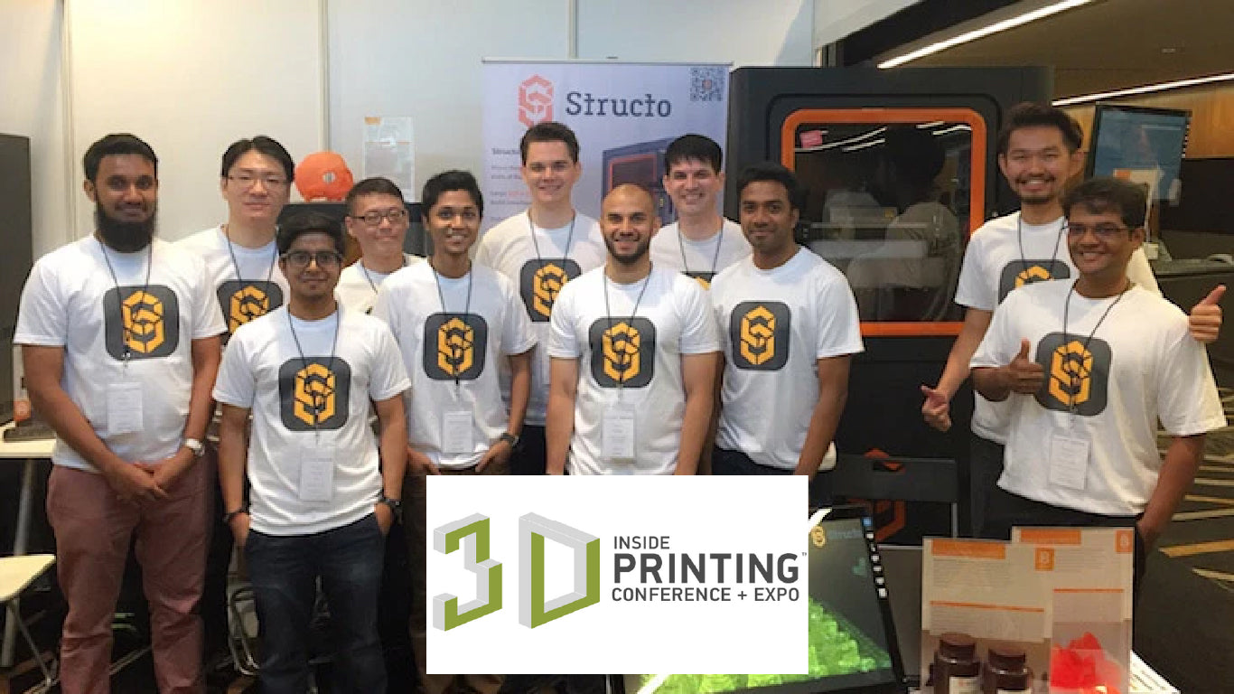 Showcasing our printers at Inside 3D Singapore
