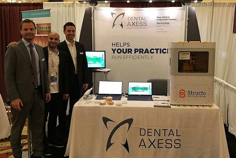 Structo's Head of Business Development and Sales - Dhruv Sahgal with Dental Axess representatives