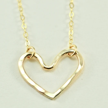 Devi Arts Small  Heart - Gold Necklace