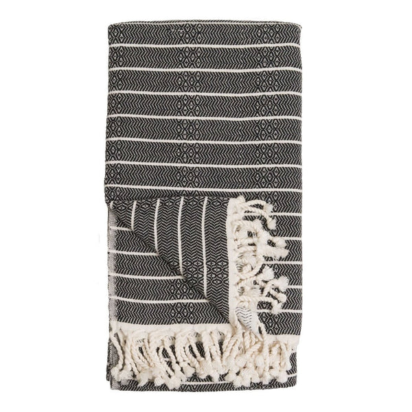 Pokoloko Turkish Towel Bamboo Striped Monochrome