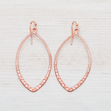Almond Earrings - Rose Gold