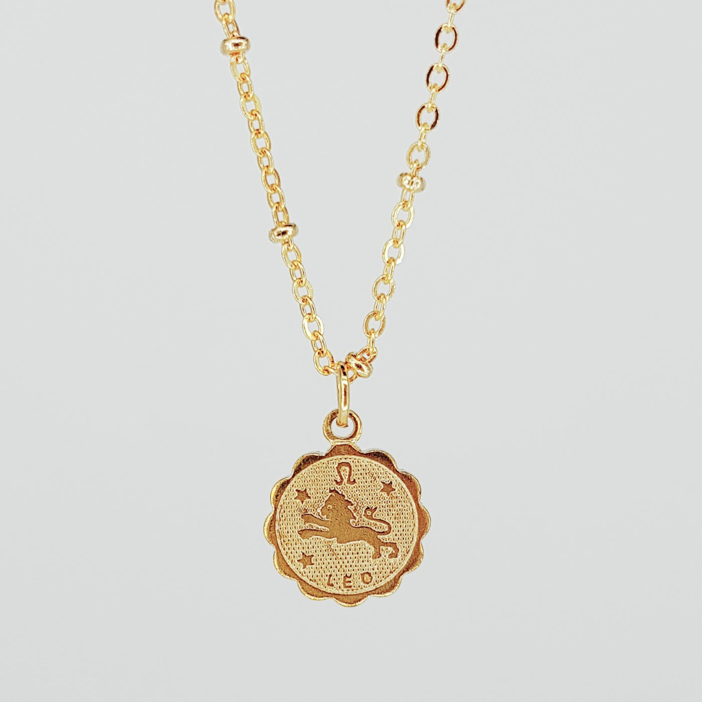 Zodiac Charm Necklace - Leo