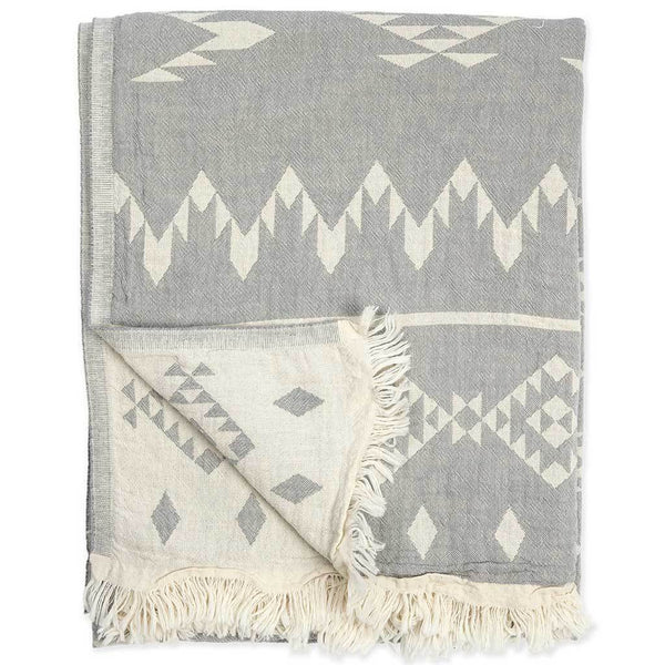 Pokoloko Turkish Towel - Atlas - Light Grey
