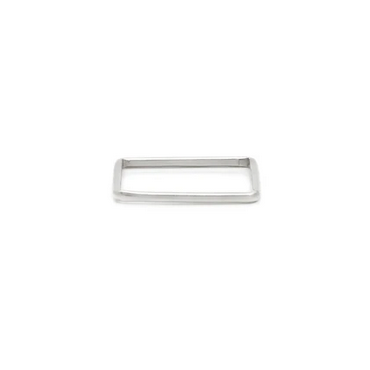 Ls Square Stacking Ring - Sterling Silver