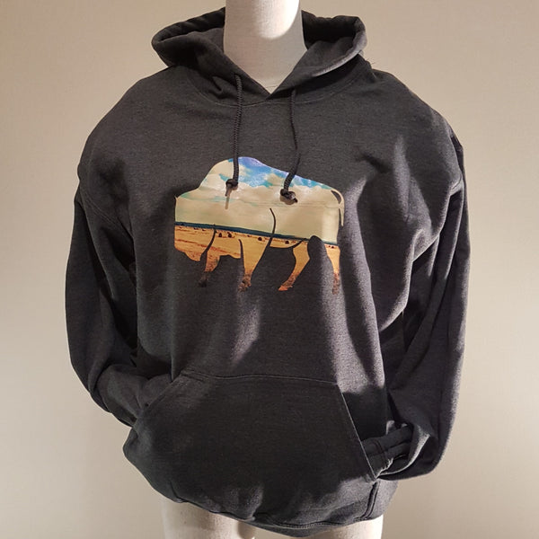 Gnomon Hoodie Bison - Heather Grey