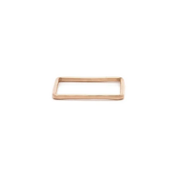 Ls Square Stacking Ring - Rose Gold Fill