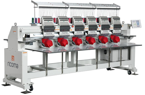 Ricoma 6 Head Commercial Embroidery Machine