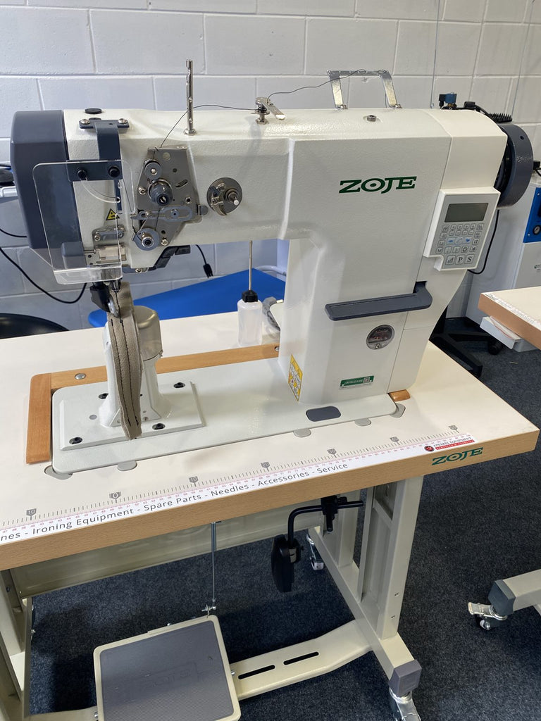 Zoje Automatic Post Bed Leather Sewing Machine