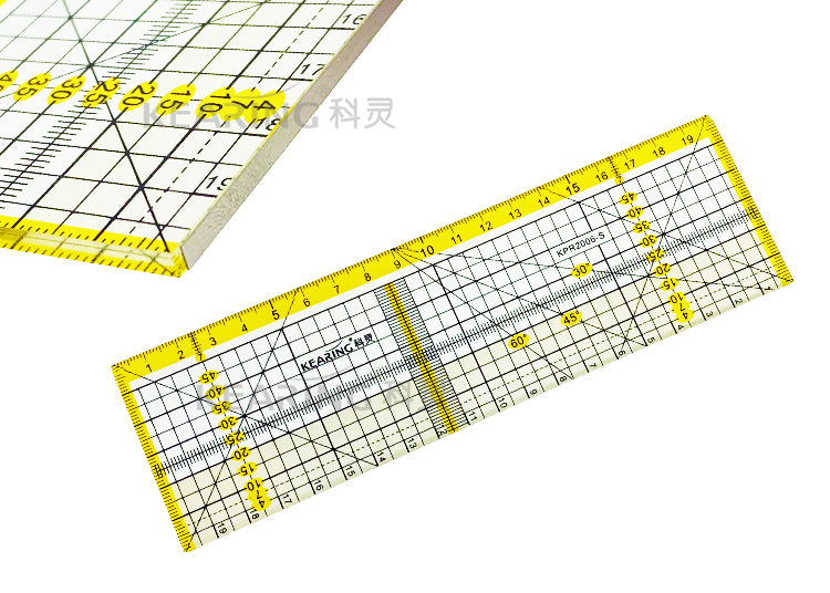 Acrylic Quilting Ruler Metric - 20 x 6cm - Metal Edge