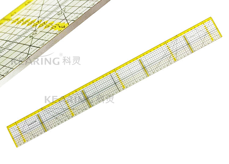 Acrylic Quilting Ruler Metric - 60 x 6cm - Metal Edge