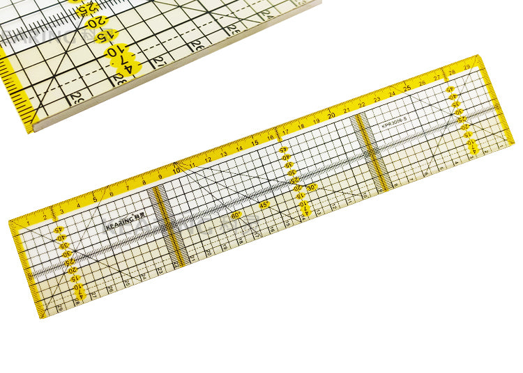 Acrylic Quilting Ruler Metric - 30 x 6cm - Metal Edge