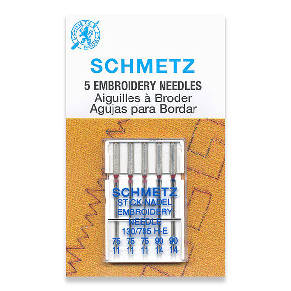 Schmetz Embroidery Sewing Needles