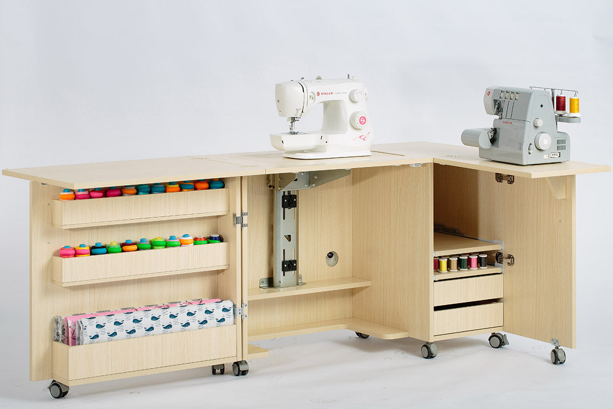 - Large Foldable Sewing Cabinet & Table – Direct Sewing Machines