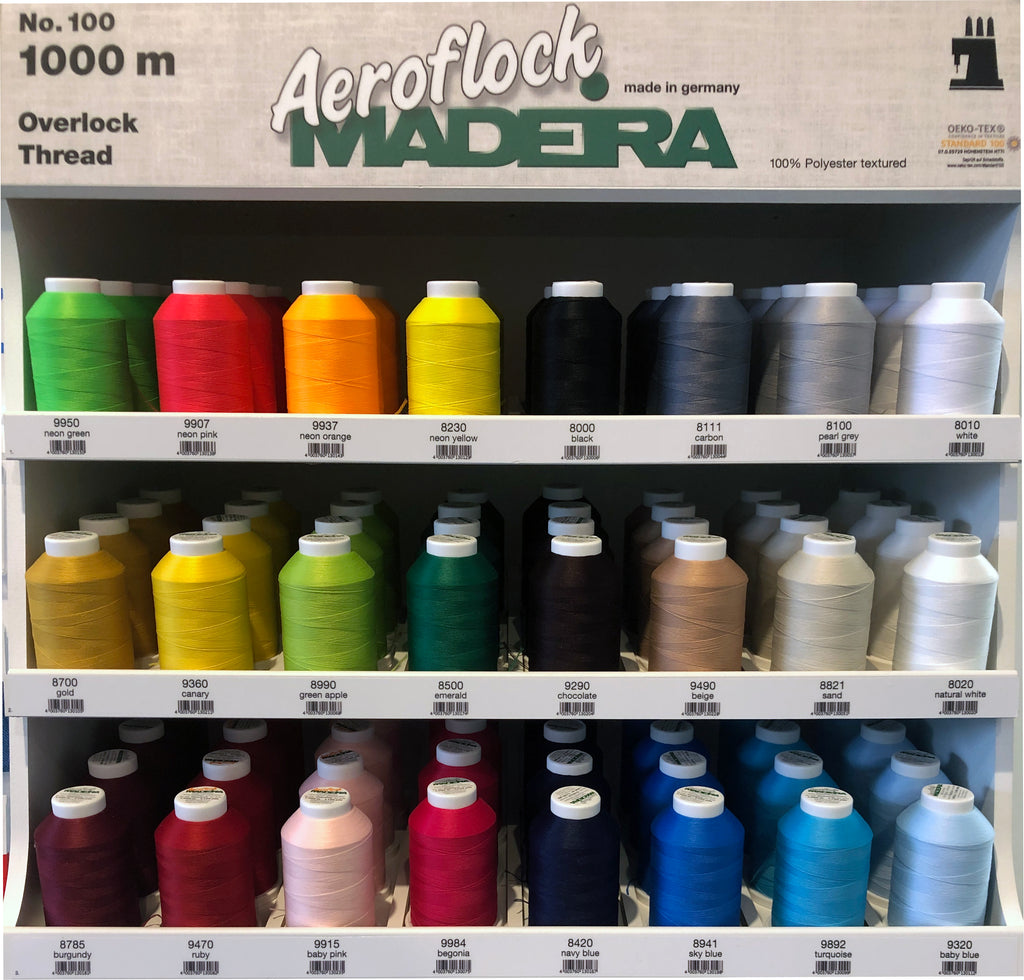 Madeira Aeroflock Texturized Fluffy Overlocker Thread - 1000m - Various Colours