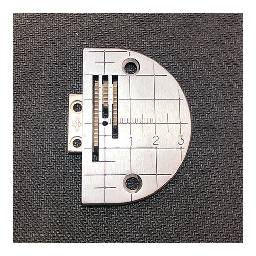 Plain Sewing Machine Needle Plate & Feed Dog Set - Metric Markings