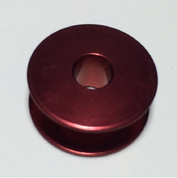 RED Aluminium Plain sewer Bobbin