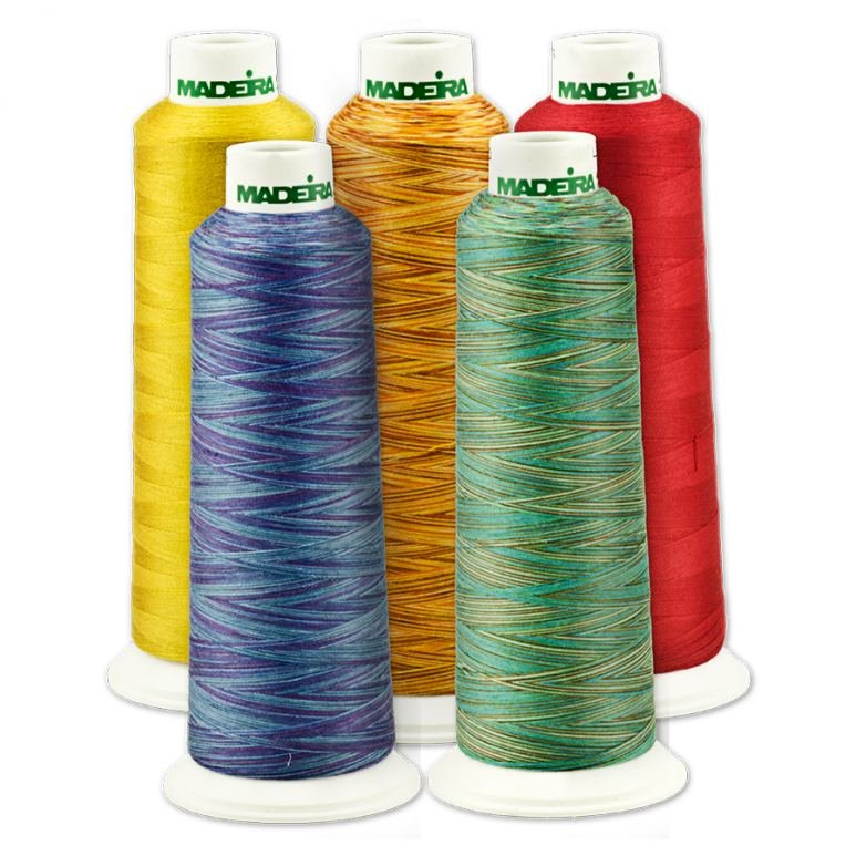 Madeira AeroQuilt Premium All Purpose Sewing Thread (Multi Colour / Variegated) - 2750m