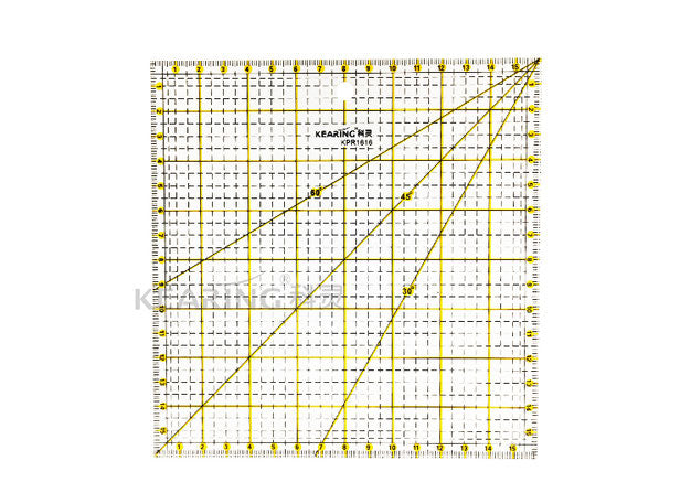 Acrylic Quilting Ruler Metric - 16 x 16cm