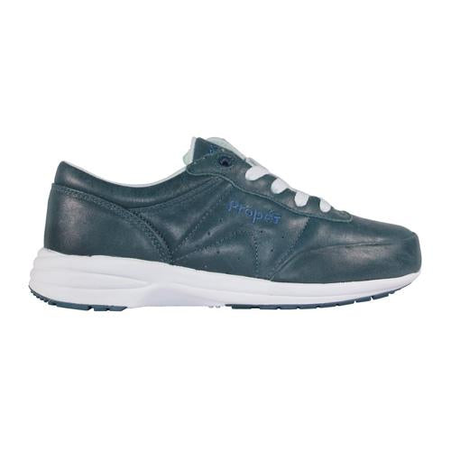 Lightweight walking shoe from Propét in Royal Blue. Arch supports, shock absorbers and removable insole. Available from www.moransshoes.com