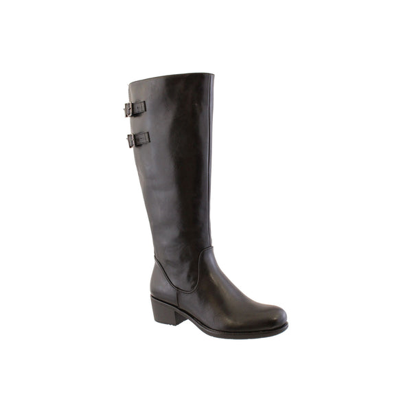 Susst Sandy. Knee high boot with elasticated calf and inside zip. 4.5cm block heel. Available from www.moransshoes.com