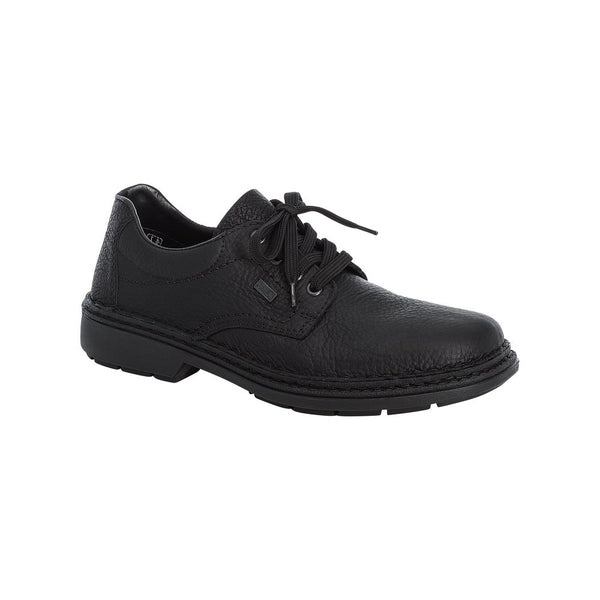 Wide fitting laced men's shoe from Rieker. Leather with Rieker-Tex lining making it water resistant. Available from www.moransshoes.com