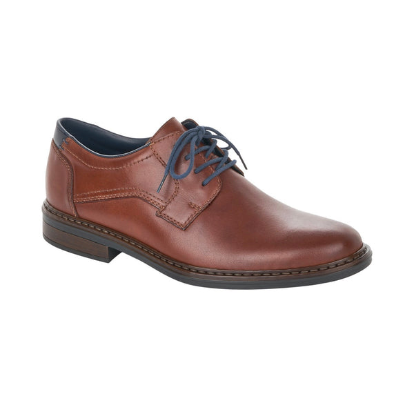 Simple comfort formal shoe for men from Rieker with a wide fit. Available from www.moransshoes.com