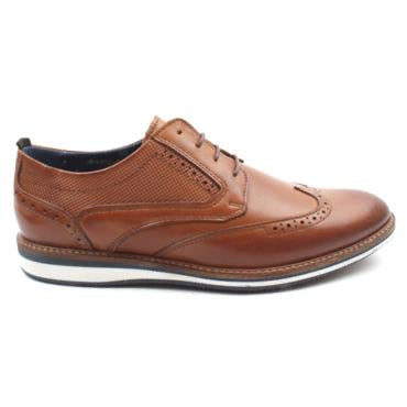 POPE Marton Tan. Gorgeous semi formal style from POPE. Wing tip brogue with perforation detail on the heel and a gorgeous finish. Soft leather uppers and insole ensure a comfortable fit. Available from www.moransshoes.com