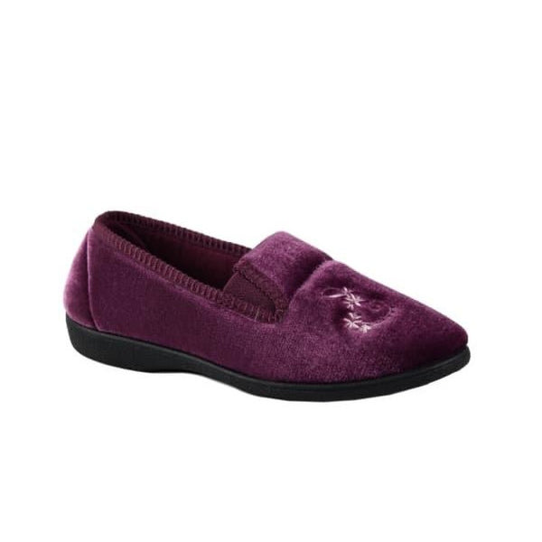 Nina Lightweight slipper with gusset instep and durable outsole. Available from www.moransshoes.com