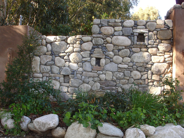 Stones in a masonry wall