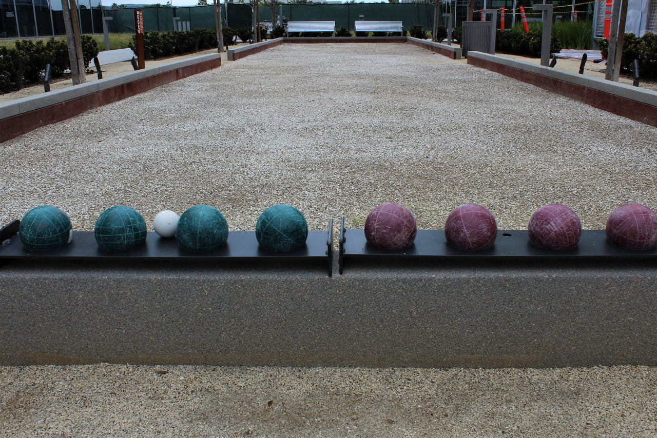 Oyster shell Bocce Ball Court