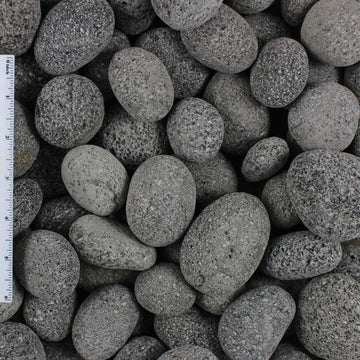Black Lava Pebble Sample