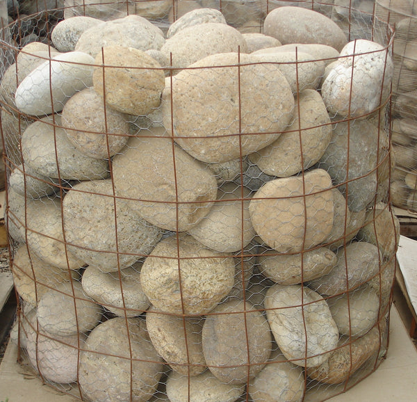 Large Buff Beach Landscape Pebbles
