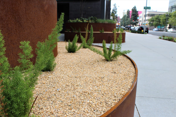 California Gold Gravel Planter