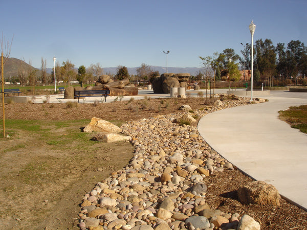 Curran Cobble ground application on a dry streambed