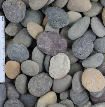 "Mixed Beach Pebble Sample (1/2""-1"", 1""-2"", 2""-3"", and 3""-5"")"