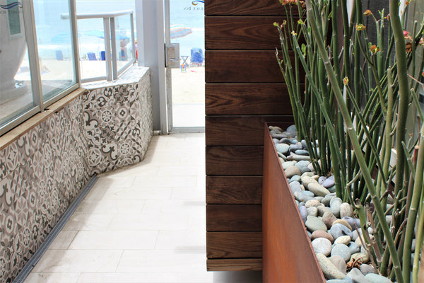 Mixed mexican beach pebbles used around the home