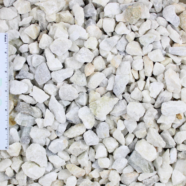 White Decorative Landscape Gravel .75