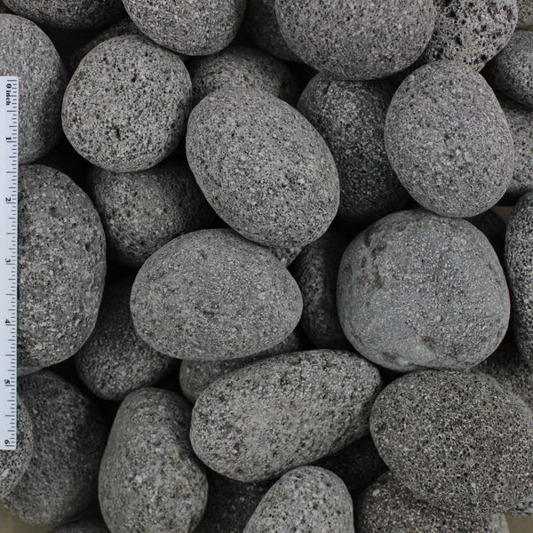 "Black Lava Pebble Sample (1""-2"" & 2""-3"")"