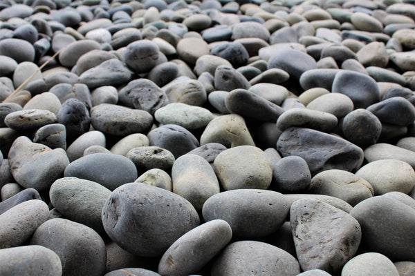 Black Beach Landscape Pebbles