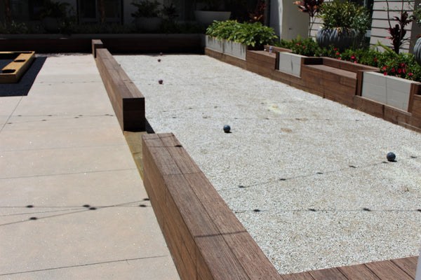 Bocce ball court in a public setting