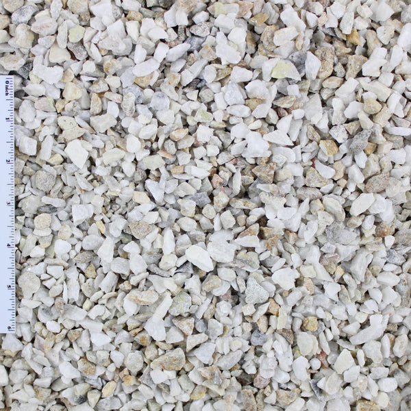 White Decorative Landscape Gravel .375