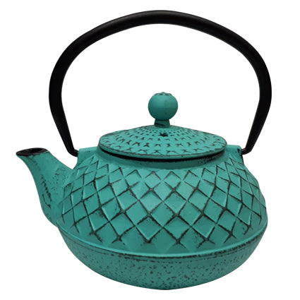500ml Turquoise Cast Iron Teapot - The Tea Merchant